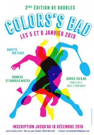 2EME EDITION NATIONALE DE DOUBLES COLOR'S BAD