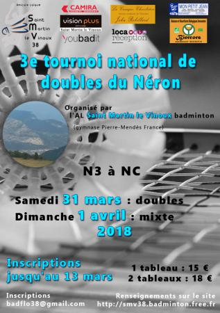 3e tournoi national de doubles « du NERON »
